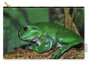 Green Tree Frog With A Smile Carry-all Pouch by Kaye Menner
