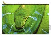 Green Tree Python Carry-all Pouch