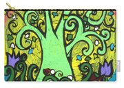 Green Tree With Purple Tulips Carry-all Pouch