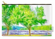 Green Trees By The Water 3 Carry-all Pouch