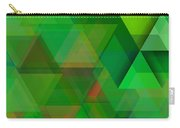 Green Triangles Over Green Mist Carry-all Pouch