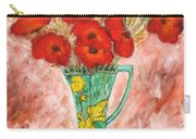 Green Vase And Poppies Carry-all Pouch