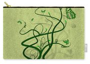 Green Vine And Butterfly Carry-all Pouch