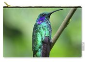 Green Violet Ear Hummingbird Carry-all Pouch