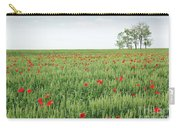 Green Wheat Field Spring Scene Carry-all Pouch