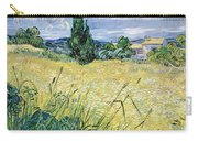 Green Wheatfield With Cypress Carry-all Pouch