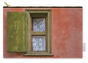 Green Window On A Red Wall Carry-all Pouch