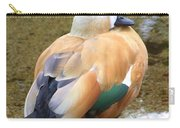 Green Winged Wood Duck 2 Carry-all Pouch