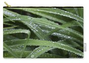 Green With Rain Drops Carry-all Pouch