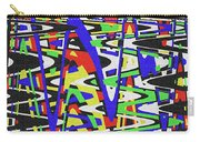 Green Yellow Blue Red Black And White Abstract Carry-all Pouch