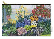 Greenhouse Flowers With Blue And Red Carry-all Pouch