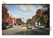 Greensboro Georgia Corner Of Main Street And Broad Street Fall Leaves Greensboro Georgia Art Carry-all Pouch