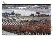 Greenville Vineyard In Snow Carry-all Pouch