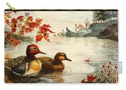 Greenwinged Teal Ducks Carry-all Pouch
