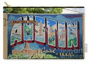 Greetings From Austin Capital Of Texas Postcard Mural Carry-all Pouch