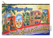 Greetings From Florida, The Land Of Sunshine Carry-all Pouch