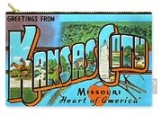 Greetings From Kansas City Missouri Heat Of America Carry-all Pouch
