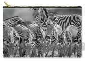 Grevy Zebra Party  7528bwc Carry-all Pouch