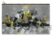 Grey And Yellow Abstract Cityscape Art Carry-all Pouch