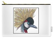 Grey Crowned Crane #52 Carry-all Pouch