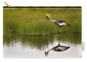 Grey Crowned Crane - Signed Carry-all Pouch
