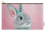 Grey Easter Bunny Carry-all Pouch