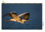 Grey Heron In Flight Carry-all Pouch by Johan Swanepoel