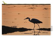 Grey Heron Sunset Carry-all Pouch