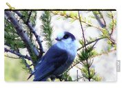 Grey Jay In A Juniper Tree Carry-all Pouch