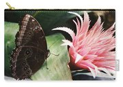 Grey Pansy Pink Bromeliad Carry-all Pouch