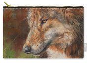 Grey Wolf Face Carry-all Pouch