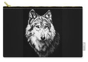 Grey Wolf Carry-all Pouch by Melodye Whitaker