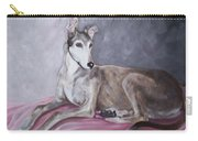 Greyhound At Rest Carry-all Pouch by George Pedro