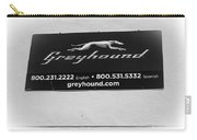 Greyhound Bus Sign Carry-all Pouch