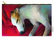 Greyhound Dog Portrait  Carry-all Pouch