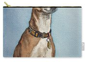 Greyhound Commission Painting By Irina Sztukowski Carry-all Pouch