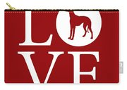 Greyhound Love Red Carry-all Pouch