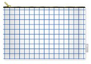 Grid Boxes In White 18-p0171 Carry-all Pouch