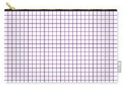 Grid Boxes In White 30-p0171 Carry-all Pouch