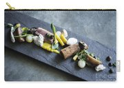 Grilled Pork Sour Cream And Vegetables On Modern Grey Slate Carry-all Pouch