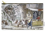 Grist Mill, 19th Century Carry-all Pouch