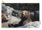 Grizzlies Snacking On Things They Find In A River Carry-all Pouch