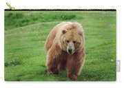 Grizzly Bear Approaching In A Field Carry-all Pouch