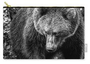 Grizzly Bear In Black And White Carry-all Pouch