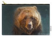 Grizzly Bear Portrait Carry-all Pouch by Betty LaRue