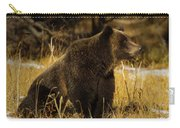 Grizzly Bear-signed-#6672 Carry-all Pouch
