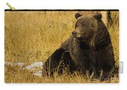Grizzly Bear-signed-#6721 Carry-all Pouch