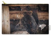 Grizzly Bear Under The Cabin Carry-all Pouch