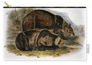 Grizzly Bear (ursus Ferox) Carry-all Pouch
