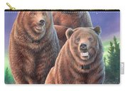 Grizzly Bears In Starry Night Carry-all Pouch